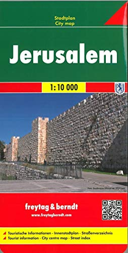Jerusalem, Stadtplan 1:10.000: Touristische Informationen. Innenstadtplan. Straßenverzeichnis (freytag & berndt Stadtpläne)