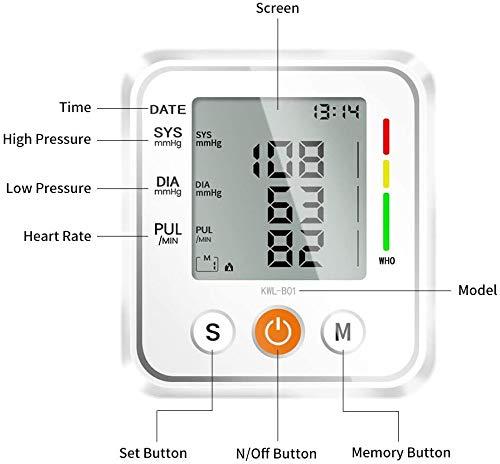 41YHubrJ8qL - NWOUIIAY Tensiómetro de Brazo Eléctrico Digital con Monitoreo de Arritmia Memorias de 2 Usuarios(2 * 99) Gran Pantalla LCD Brazalete 22-42cm Blanco