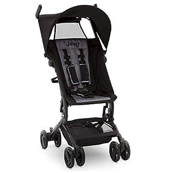 Jeep Clutch Plus Travel Stroller with Reclining Seat by Delta Children Black/Grey