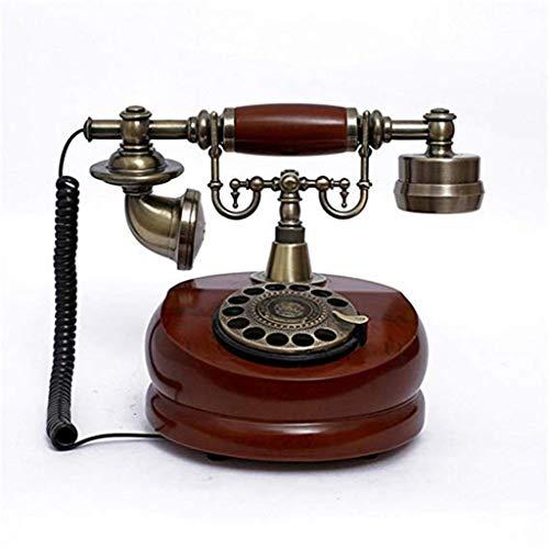 Gib niemals auf Vintage Retro europäischen Drehscheibe Zifferblatt Massivholz Antik Hotel Hotel Haus drahtgebundenen Festnetz-Telefon