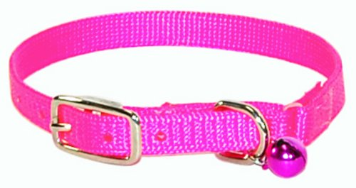 Red Hamilton 800 RH RD Rhinestone Cat Series 3//8-Inch by 10-Inch Safety Cat Collar with Bell