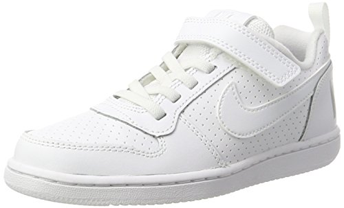 Nike Jungen Court Borough Low (PSV) Basketballschuhe, Weiß White 100), 32 EU