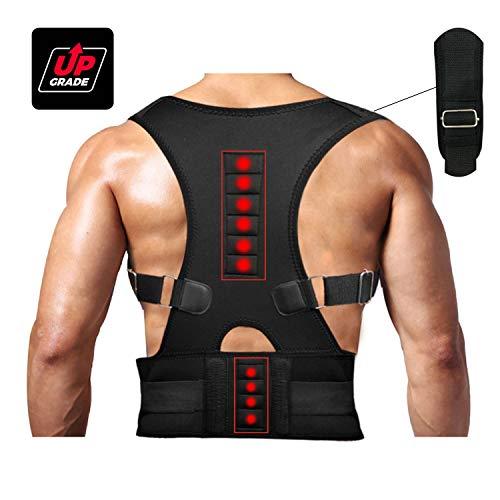 Magnetic Therapy Posture Support Back Brace -FDA Approved Medical Grade Adjustable Posture Corrector Brace Shoulder Back Support Belt- Relieves Neck, Back and Spine Pain (XXL)