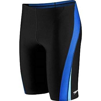 Speedo Men s Swimsuit Jammer Endurance+ Splice Team Colors Black/Blue Splice 32