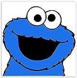 SkinoEu® 2 x PVC Laminado Adhesivos Pegatinas Cookie Monster Plaza Sésamo Dibujos Animados para Motociclista Autos Coches Motos Ciclomotores Bicicletas Ordenador Portátil Regalo B 133
