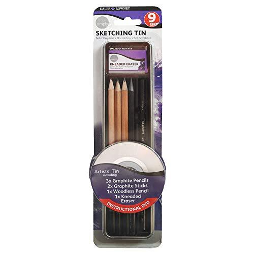 Daler Rowney - 644200008 - Kit De Loisirs Créatifs - Ensemble 9 Pièces De Crayons D'Esquisse