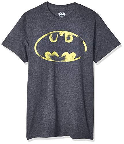 Batman Logo Bat Signal Men's Charcoal Tee Shirt T-Shirt (XXL)