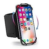 Hianjoo Brassard Sport Compatible pour Smartphone, 360° Rotation Universel Brassard de Poignet et Bras avec Sangle Réglable Compatible pour 4,0-6,5 Pouces Smartphones