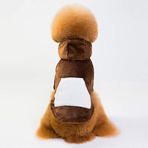 ZDJR Hundesportbekleidung Hunde Wintermantel HundeHoodie Puppy Sweater WeisehaustierHoodie,Braun,XL