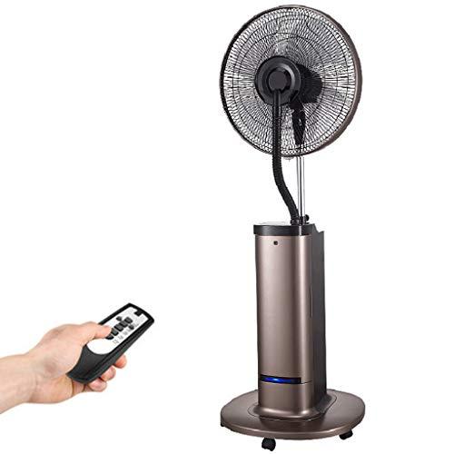 LP Fans 42 cm multifunctionele oscillatie-ventilator, met bevochtigingsnevel-actie, digitaal touchpad en afstandsbediening, industriële draaibare mobiele 3-versnellingen, watertank van 4 liter