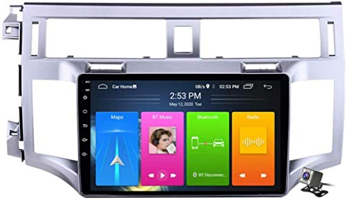 LYHY Android 10 Radio de navegación GPS para automóvil para Toyota Avalon 2006-2010 con Pantalla táctil de 9 Pulgadas Soporte FM Am RDS DSP/MP5 Player/BT Control del Volante/Carplay