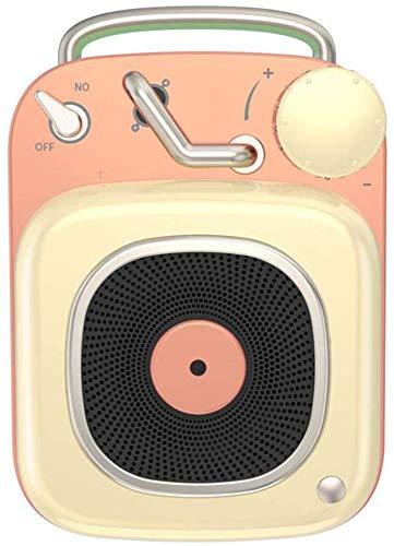 YPSMLYY Tragbarer Retro-Funklautsprecher Creative BT Bluetooth-Lautsprecher Im Atomic-Plattenspieler-Stil Mini-Subwoofer-Musik-Player,Yellow