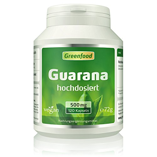 Greenfood Natural Products -  Guarana, 500 mg,