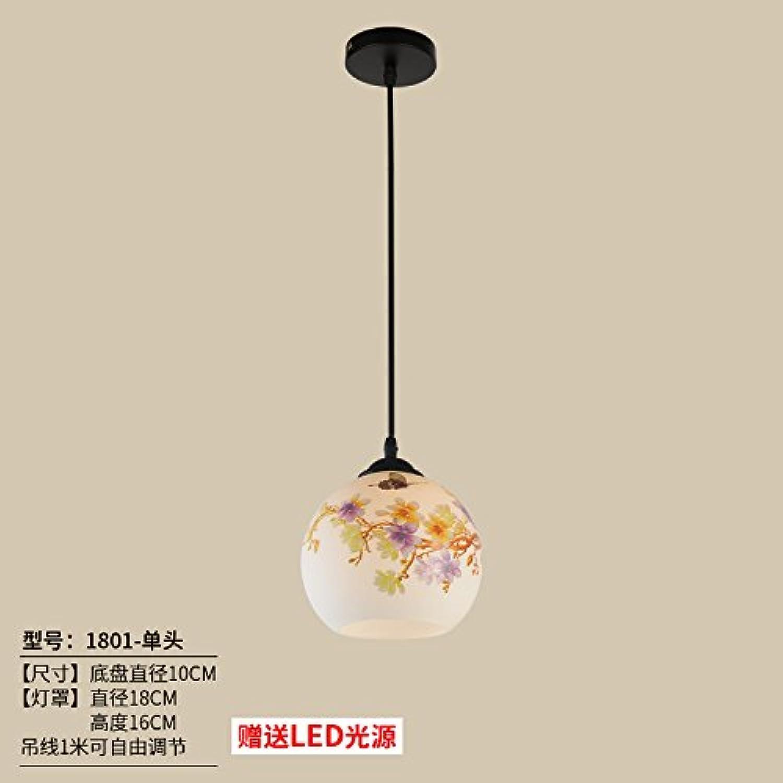 Luckyfree Kreative Modern Fashion Anhnger Leuchten Deckenleuchte Kronleuchter Schlafzimmer Wohnzimmer Küche, 1801-Kopf + 9 Watt Weilicht-LED