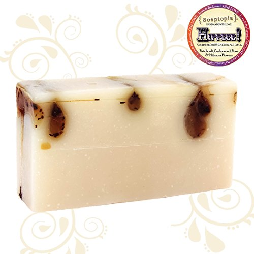 {SOAPTOPIA} - Organic Handmade Bar Soap for Face, Body, and Hands - Scented with Vanilla, Sweet Almond and Cinnamon Essential Oils to Detoxify & Deep Clean -Chai & Catch Me (6.5 oz)