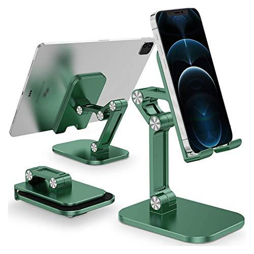 WZHZJ Soporte para teléfono móvil de Escritorio Plegable para Soporte de teléfono móvil de Mesa Universal (Color : Green)