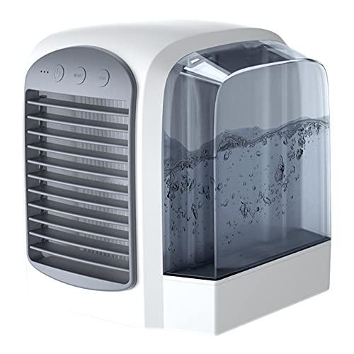 Domybest - Climatizador portátil silencioso con ventilador de aire acondicionado por evaporación, 3 velocidades