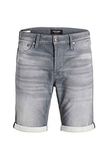 JACK & JONES Herren JJIRICK JJICON GE 005 I.K STS Shorts, Grey Denim, XL