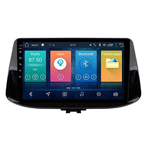 GPS Navigation Player Multimedia De 9 Pulgadas para Hyundai I30 2017-2018, Android 8.1 Doble DIN/Bluetooth Llamadas De Manos Libres/WiFi/MirrorLink/SWC/Vista Posterior Cámara,4 Core-WiFi: 1+16G