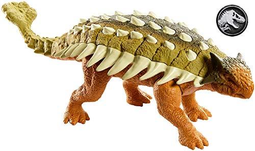 Jurassic World Rugidores Ankylosaurus, dinosaurio de juguete (Mattel GHY09)