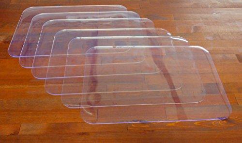 DecoHomeTextil Transparenter Tischset Platzset - 6er Set - Form und Stärke wählbar - Eckig 30 x 45 cm Transparent 1 mm