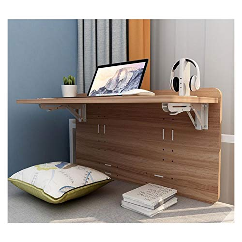 GHHZZQ Study Floating Desk for Children's Room Dorm Room Wall-mounted Folding Desk Space Saving Storage Rack Shelf, 2 Sizes (Color : A, Size : 60x33cm)