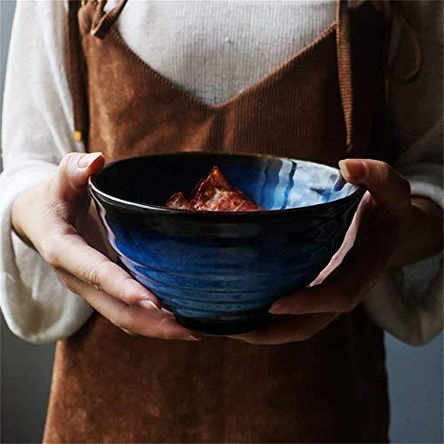 ZHA JIAN Soupe profonde Céramique Raman Pâtes Riz Saladier créative fruits céréales Dessert Snack Bol Micro-onde Coffre 5 pouces (Couleur: vert paon) (Color : Cat's Eye Blue)