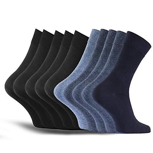 MB52 Herensokken, 10 paar klassieke katoenen sokken, comfortabel met aangenaam comfort, perfecte pasvorm