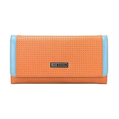 ESBEDA Orange Color Emboss Texture Wallet For Women