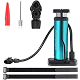 Bike Pump, Atyupmo Mini Bicycle Pump Portable Bike Floor Pump Bike Tire Pump Hand Foot Activated Bike Pump with Presta and Schrader Valves Extra Valve and Gas Needle for All Bike, Free Pump Straps