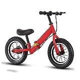 FUJGYLGL Ninguna Bicicleta de Pedal, Marco de Acero de Alto Carbono, Bicicleta Plegable y Balance con Freno, Asiento de Manillar Ajustable, Bicicletas de Equilibrio for niños, Durante 3-8 años.
