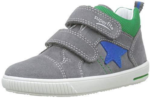 Superfit Baby Jungen Moppy Sneaker, Grau (Hellgrau/Grün 25), 22 EU