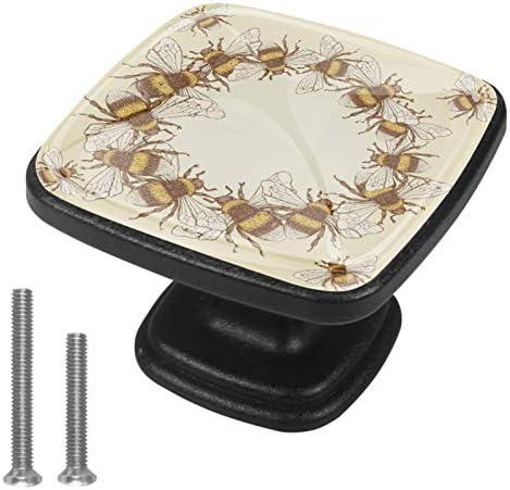 Keukenkast KnoppenVintage Gele BumblebeeKnoppen voor dressoirladen voor kast kast badkamer of kantoorPack van 4