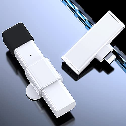 BMDHA Microfono Lavalier Inalambrico Plug-Play,Microfono Inalambrico ReduccióN De Ruido De Doble NúCleo SincronizacióN AutomáTica,MicróFono InaláMbrico(No Se Requiere App Ni Bluetooth)