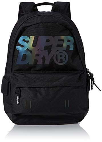 Superdry Holographic Lineman Montana Men's Backpack, Black, 30x20x44 centimeters (W x H x L)