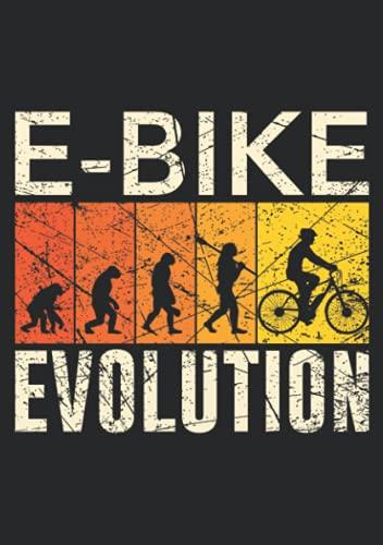 Notizbuch A5 kariert mit Softcover Design: E-Bike Evolution Affe Mensch Entwicklung Fahrrad Radfahrer: 120 karierte DIN A5 Seiten
