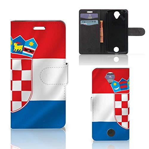 B2Ctelecom Handyhüllen für Acer Liquid Z330 Magnetverschlussverriegelung Kroatische Flagge