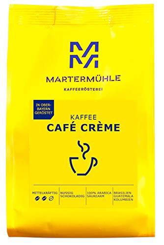 Martermühle I Kaffee Café Crème I Kaffee gemahlen I Kaffeepulver I Kaffeebohnen gemahlen I Kaffeebohnen aus aller Welt I geröstete Kaffeebohnen I Kaffeebohnen säurearm I 100% Arabica I 250g
