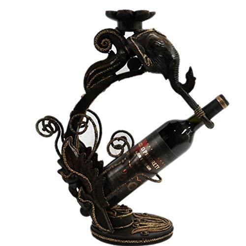 Botellero Botellero Porta Botellas De Vino De Madera Forma De Cabeza De Elefante Botellero Decorativo De Sobremesa for Botella De Vino Soporte De Exhibición Decoración De Manualidades for Decoración D