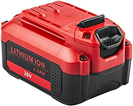 CMCB205 6.0Ah 20V Battery Packs Replacement for Craftsman V20 MAX Lithium Ion Battery CMCB204 CMCB202 CMCB201 Fast Charger CMCB104 Cordless Power Tool(Only for Craftsman 20V Max V20 Series)