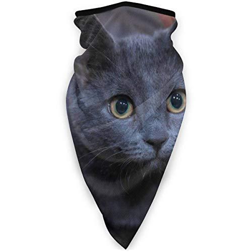 TURFED Das russische Blaue Katze Outdoor Windproof Sports Outdoor Schal Halswärmer Bandana für Männer Frauen