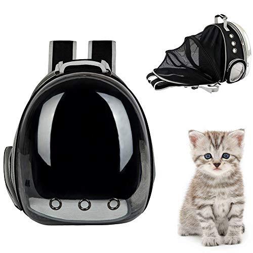 Sinbide - Mochila Transparente para Gato y Perro, con 9 Agujeros de ventilación, Bolsa de Burbujas, Extensible, portátil para Viaje, Senderismo, Camping, Senderismo, etc.
