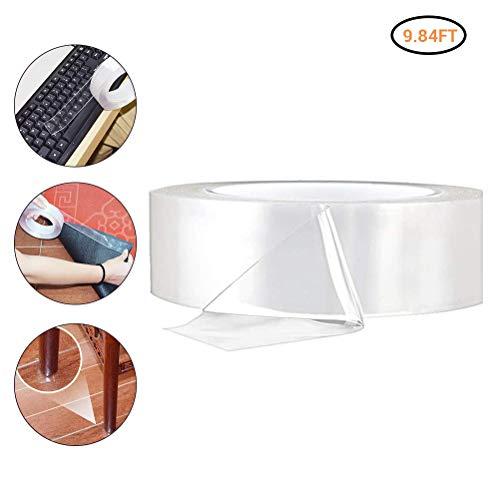 Nano Tape, nano plakband dubbelzijdig sterk, spoorloos verwijderbaar plakband, herbruikbaar, antislip, plakstrip transparant