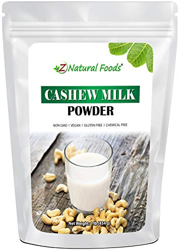 Cashew Milk Powder - Unsweetened & Unflavored - All Natural Milk Alternative - Perfect For Coffee, Smoothies, Cereal, Drinks & Baking - Vegan, Gluten Free, Non GMO, Kosher, & Dairy Free - 1 lb