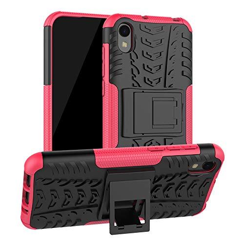 LFDZ Compatible Huawei Y5 2019 Custodia, Resistente alle Cadute Armatura Robusta Custodia Shockproof Protective Case Cover per Huawei Y5 2019 / Honor 8S Smartphone(Not Fit Huawei Y6 2019),Rosa
