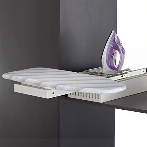 uyoyous - Tabla de planchar con tabla de planchar integrada y plataforma plegable para la colada con cubierta resistente al calor para ahorrar espacio