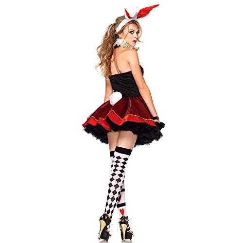 TIANFUSW Vestito Halloween Donna Sexy, Costume da Coniglietta Sexy