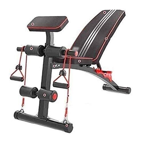 ROLLHDD Fitness-Workout-Bank, Faltbarer Gewichtsbank, multifunktionale Fitness CFoldable Utility-Gewichtsbank for Ganzkörper-Trainingsbank Rückenbrett
