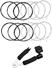 Black Nylon Classical Guitar Strings 2 full sets and 3 in 1 Guitar Restringing Tool Including Guitar String Winder Guitar String Cutter Guitar Pin Puller