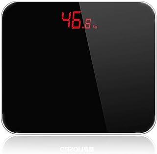 HYY-YY Báscula de baño báscula de pesaje, báscula digital precisa, báscula de peso para el hogar, equilibrio corporal, 180 kg, color negro